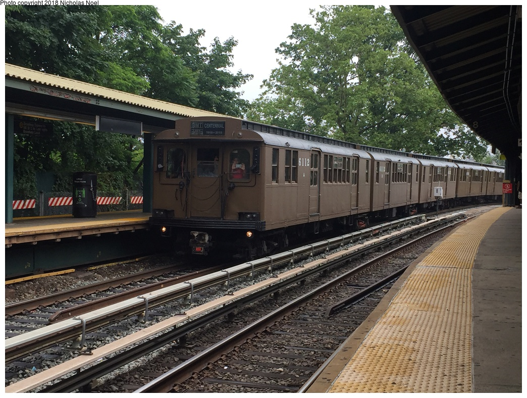 (396k, 1044x788)<br><b>Country:</b> United States<br><b>City:</b> New York<br><b>System:</b> New York City Transit<br><b>Line:</b> BMT Brighton Line<br><b>Location:</b> Sheepshead Bay<br><b>Route:</b> Museum Train Service<br><b>Car:</b> BMT D-Type Triplex 6112 <br><b>Photo by:</b> Nicholas Noel<br><b>Date:</b> 6/17/2017<br><b>Viewed (this week/total):</b> 0 / 714