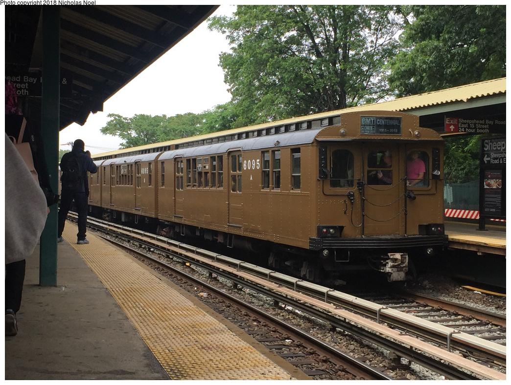 (369k, 1044x788)<br><b>Country:</b> United States<br><b>City:</b> New York<br><b>System:</b> New York City Transit<br><b>Line:</b> BMT Brighton Line<br><b>Location:</b> Sheepshead Bay<br><b>Route:</b> Museum Train Service<br><b>Car:</b> BMT D-Type Triplex 6095 <br><b>Photo by:</b> Nicholas Noel<br><b>Date:</b> 6/17/2017<br><b>Viewed (this week/total):</b> 0 / 714