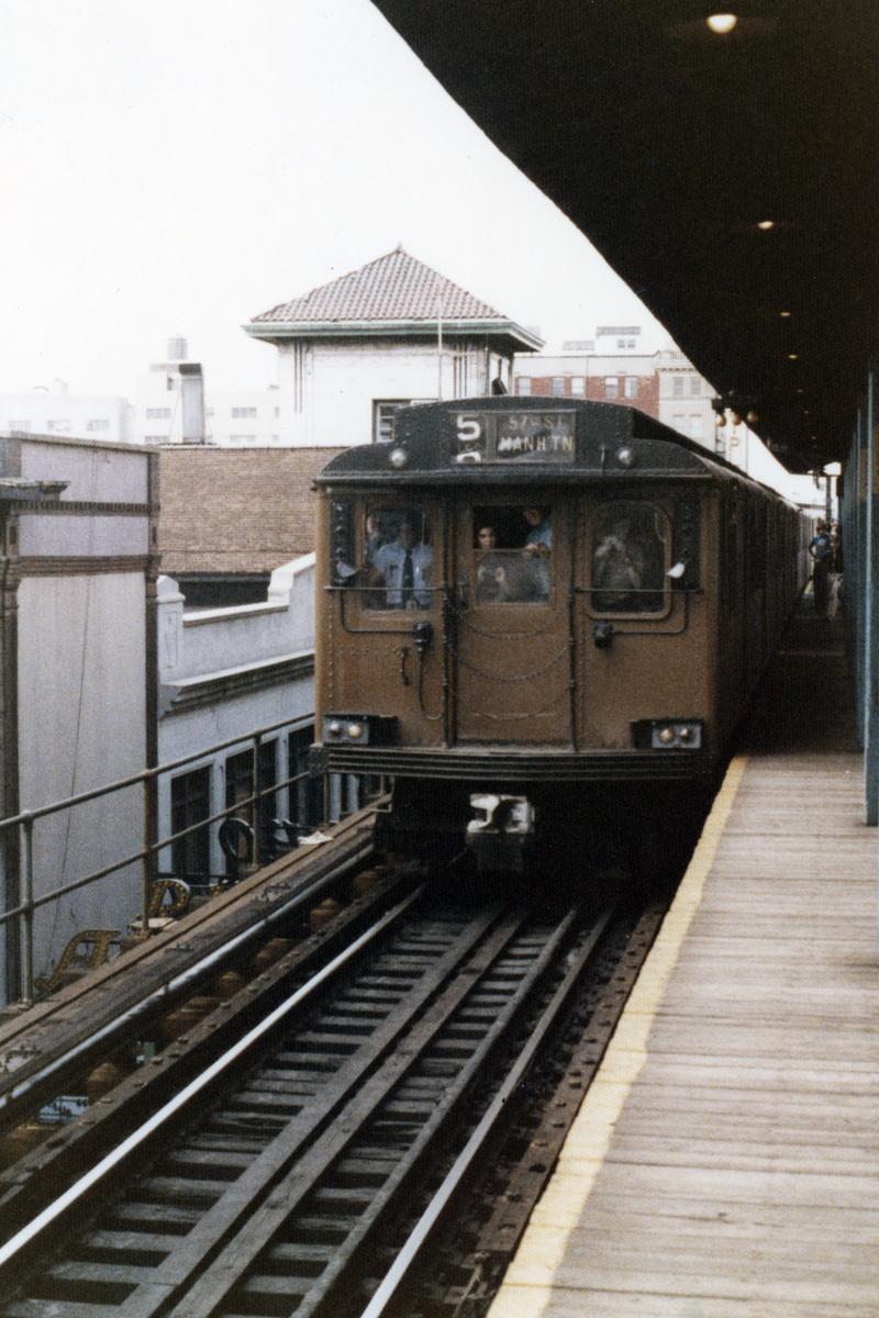 (510k, 800x1200)<br><b>Country:</b> United States<br><b>City:</b> New York<br><b>System:</b> New York City Transit<br><b>Line:</b> BMT Nassau Street-Jamaica Line<br><b>Location:</b> 168th Street (Demolished)<br><b>Route:</b> Fan Trip<br><b>Car:</b> BMT D-Type Triplex  <br><b>Collection of:</b> Nicholas Fabrizio<br><b>Date:</b> 9/1/1977<br><b>Viewed (this week/total):</b> 0 / 419