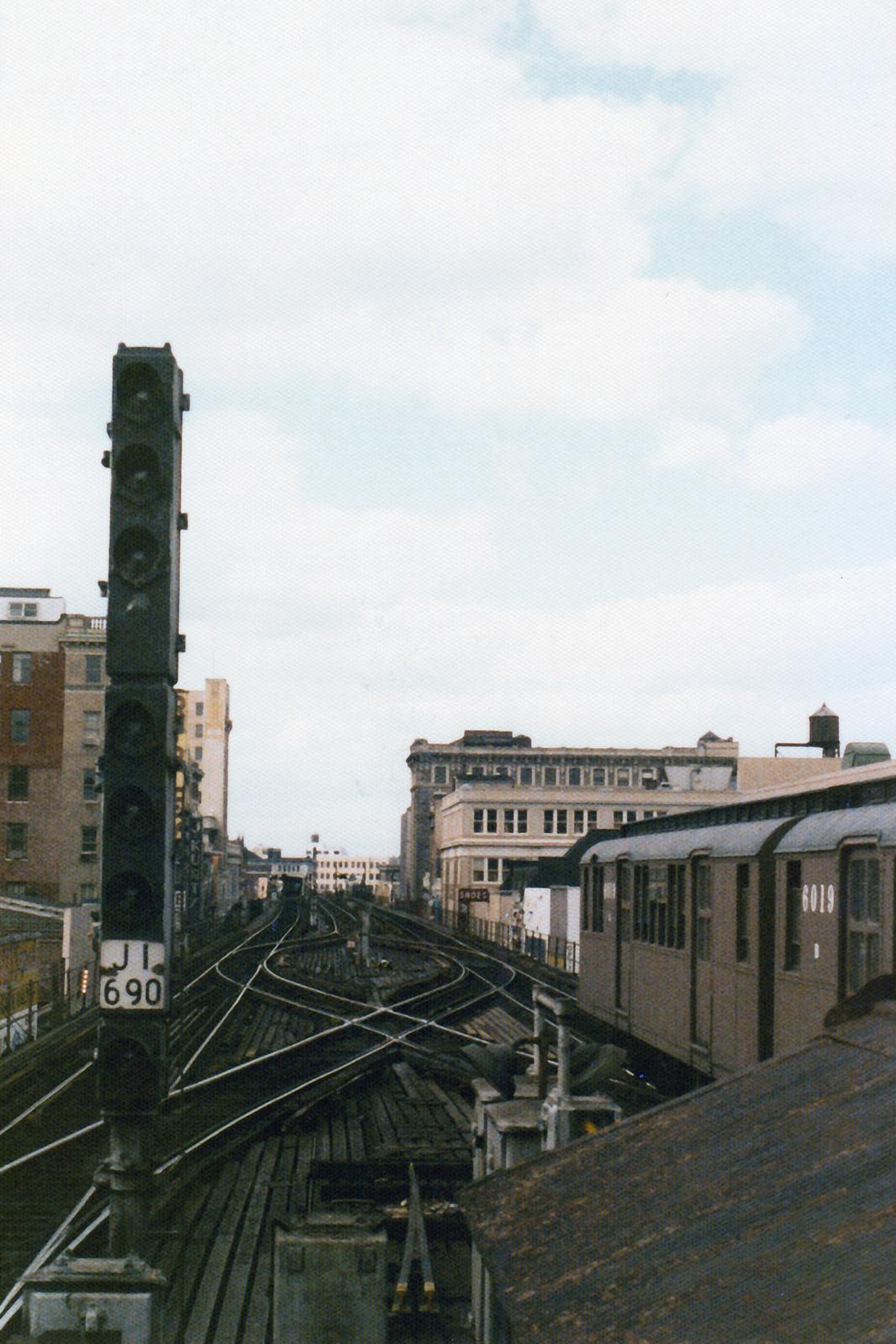 (821k, 1066x1599)<br><b>Country:</b> United States<br><b>City:</b> New York<br><b>System:</b> New York City Transit<br><b>Line:</b> BMT Nassau Street-Jamaica Line<br><b>Location:</b> 168th Street (Demolished)<br><b>Route:</b> Fan Trip<br><b>Car:</b> BMT D-Type Triplex 6019 <br><b>Collection of:</b> Nicholas Fabrizio<br><b>Date:</b> 9/1/1977<br><b>Viewed (this week/total):</b> 1 / 604