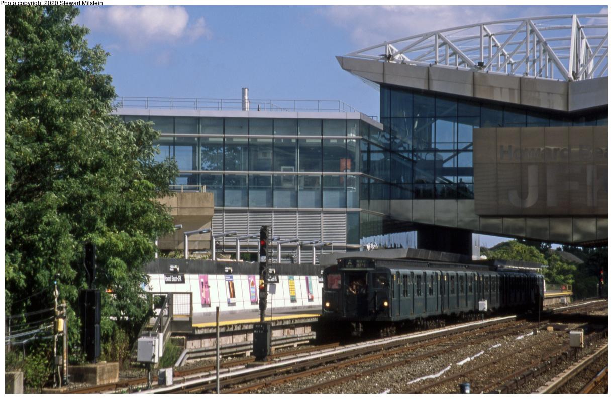 (466k, 1220x795)<br><b>Country:</b> United States<br><b>City:</b> New York<br><b>System:</b> New York City Transit<br><b>Line:</b> IND Rockaway Line<br><b>Location:</b> Howard Beach/JFK Airport<br><b>Route:</b> Museum Train Service<br><b>Car:</b> R-1 (American Car & Foundry, 1930-1931) 381 <br><b>Photo by:</b> Stewart Milstein<br><b>Date:</b> 8/4/2018<br><b>Viewed (this week/total):</b> 0 / 345