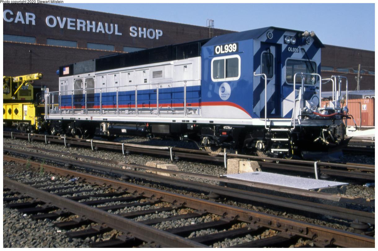 (457k, 1220x811)<br><b>Country:</b> United States<br><b>City:</b> New York<br><b>System:</b> New York City Transit<br><b>Location:</b> Coney Island Yard<br><b>Car:</b> R-156 Diesel-Electric Locomotive (MPI, 2012-2013) 939 <br><b>Photo by:</b> Stewart Milstein<br><b>Date:</b> 9/19/2014<br><b>Viewed (this week/total):</b> 1 / 298