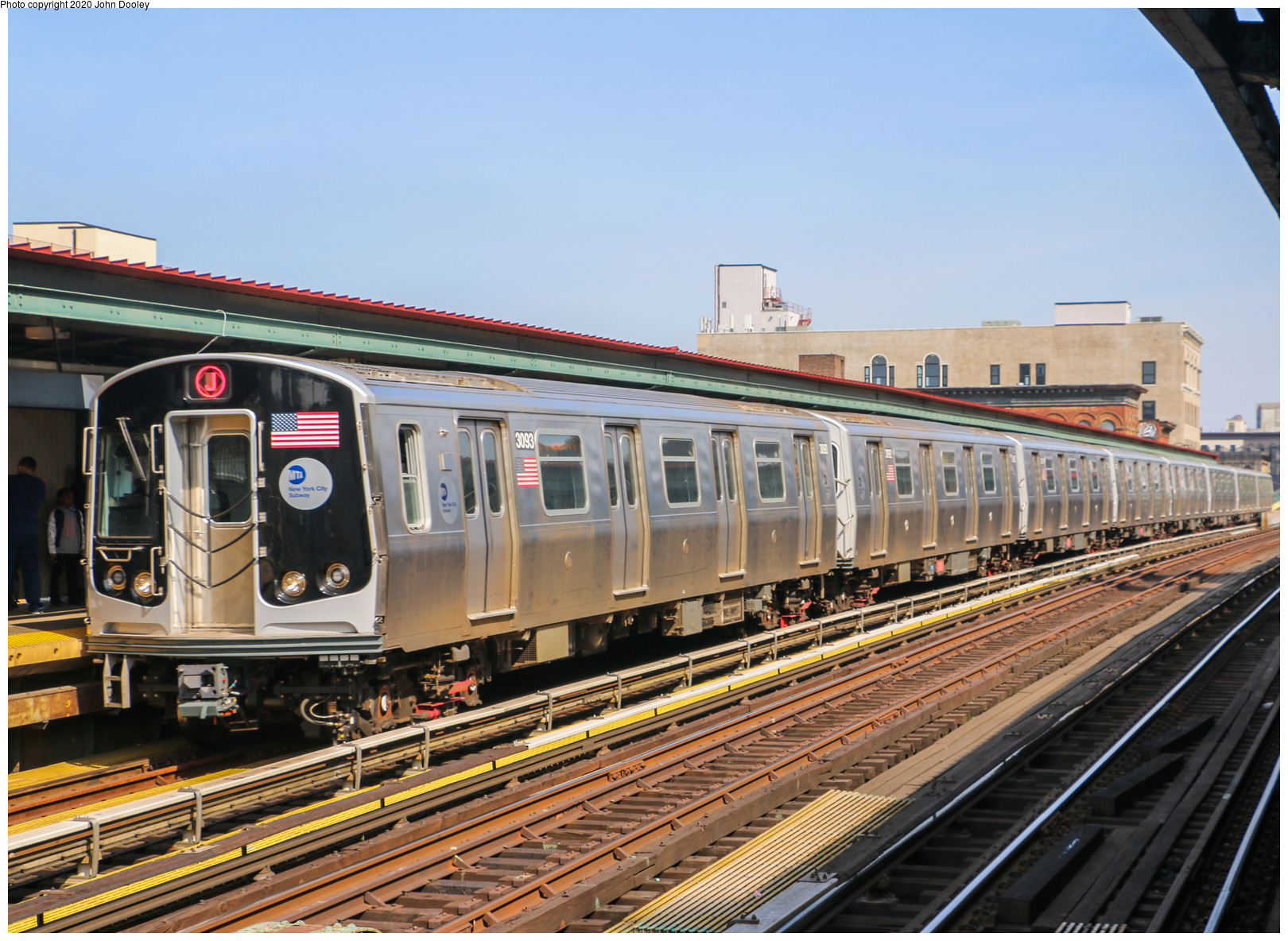(833k, 1620x1184)<br><b>Country:</b> United States<br><b>City:</b> New York<br><b>System:</b> New York City Transit<br><b>Line:</b> BMT Nassau Street-Jamaica Line<br><b>Location:</b> Flushing Avenue<br><b>Route:</b> J<br><b>Car:</b> R-179 (Bombardier, 2016-2019) 3093 <br><b>Photo by:</b> John Dooley<br><b>Date:</b> 5/14/2018<br><b>Viewed (this week/total):</b> 3 / 379
