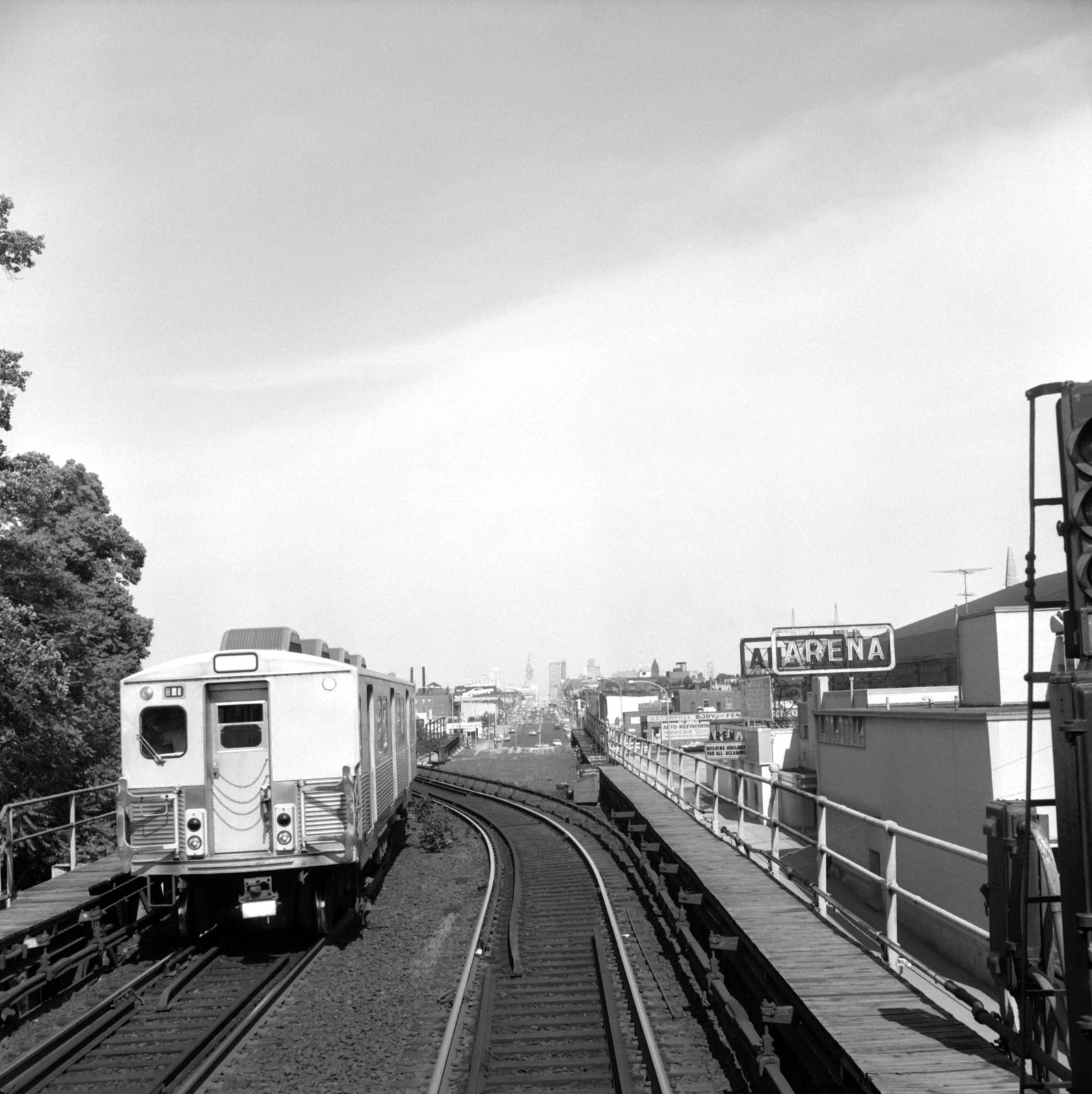 (680k, 1597x1600)<br><b>Country:</b> United States<br><b>City:</b> Philadelphia, PA<br><b>System:</b> SEPTA (or Predecessor)<br><b>Line:</b> Market-Frankford El<br><b>Location:</b> 46th Street<br><b>Car:</b> SEPTA M-3 (Budd, 1960)  <br><b>Collection of:</b> David Pirmann<br><b>Date:</b> 6/12/1965<br><b>Viewed (this week/total):</b> 4 / 128