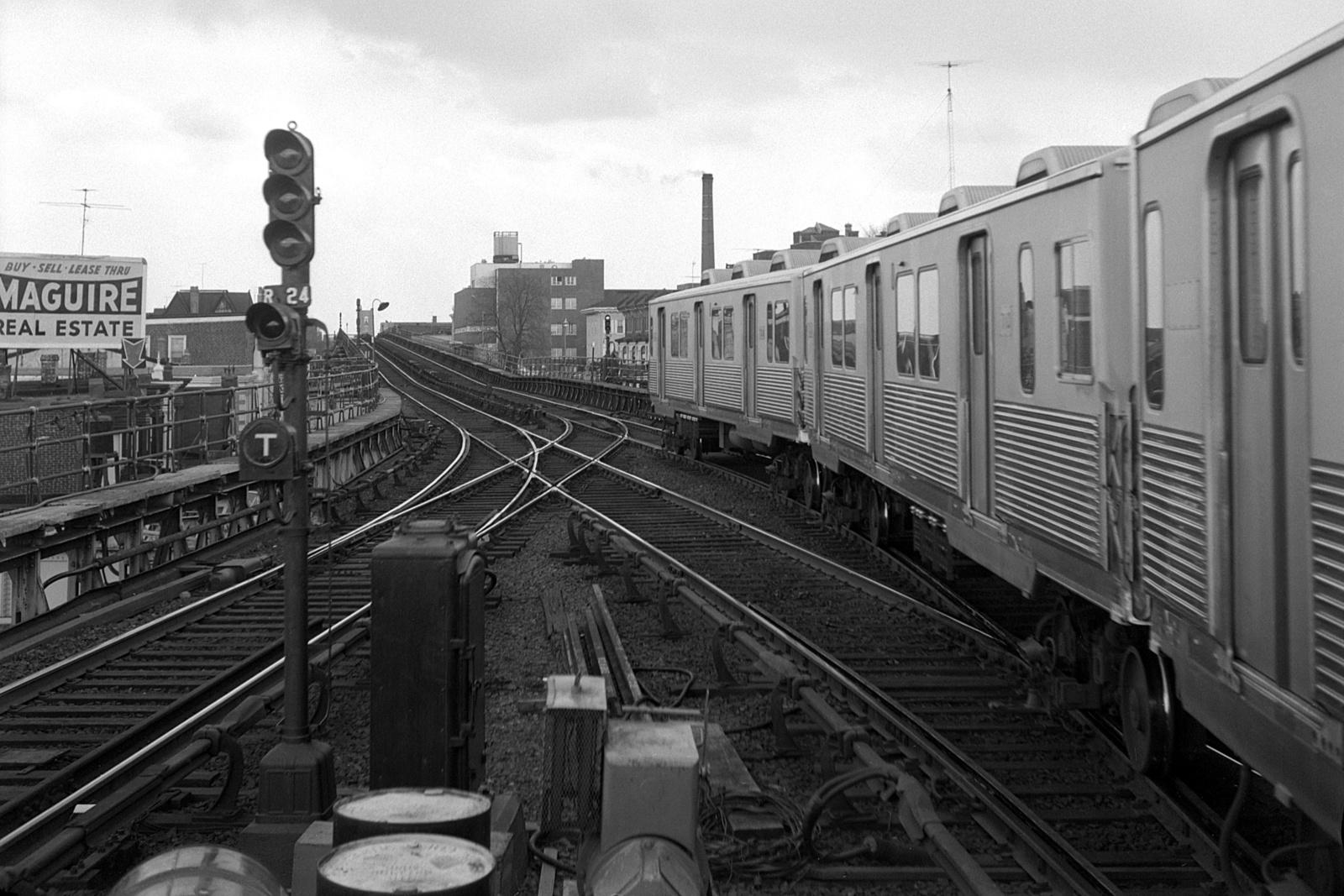 (564k, 1600x1067)<br><b>Country:</b> United States<br><b>City:</b> Philadelphia, PA<br><b>System:</b> SEPTA (or Predecessor)<br><b>Line:</b> Market-Frankford El<br><b>Location:</b> Frankford Terminal (Bridge/Pratt)<br><b>Car:</b> SEPTA M-3 (Budd, 1960)  <br><b>Collection of:</b> David Pirmann<br><b>Date:</b> 4/2/1966<br><b>Viewed (this week/total):</b> 4 / 149