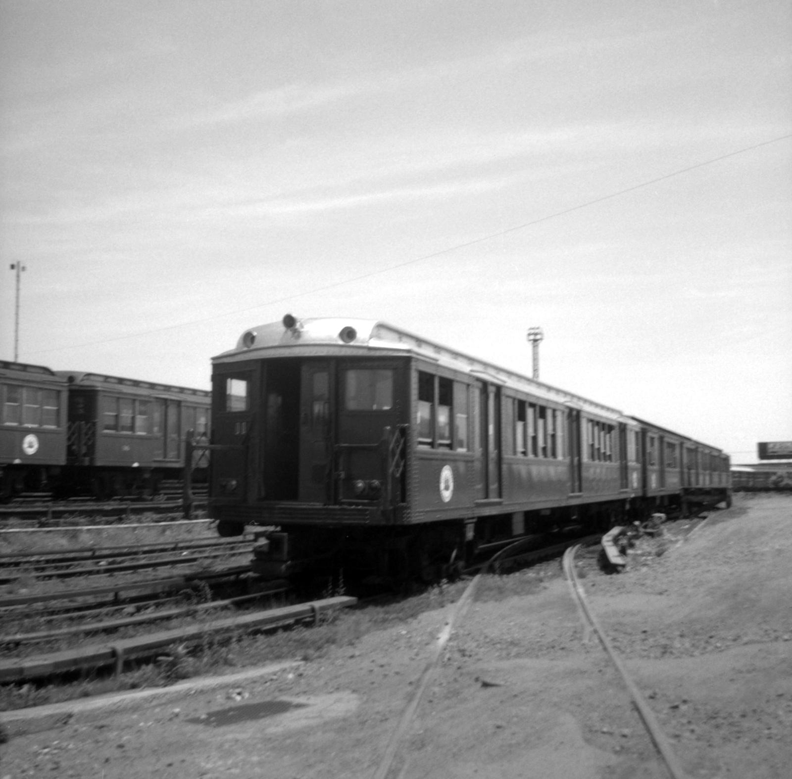 (517k, 1600x1575)<br><b>Country:</b> United States<br><b>City:</b> Philadelphia, PA<br><b>System:</b> SEPTA (or Predecessor)<br><b>Line:</b> Broad Street Subway<br><b>Location:</b> Fern Rock Yard/Shops<br><b>Car:</b> PTC/SEPTA B-1 Broad Street (J.G. Brill, 1927-1928) 26 <br><b>Collection of:</b> David Pirmann<br><b>Date:</b> 6/11/1965<br><b>Viewed (this week/total):</b> 2 / 109