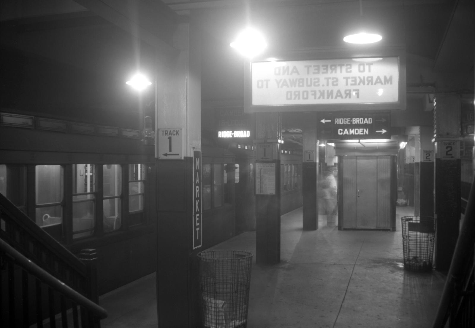 (292k, 1600x1107)<br><b>Country:</b> United States<br><b>City:</b> Philadelphia, PA<br><b>System:</b> SEPTA (or Predecessor)<br><b>Line:</b> Broad Street Subway<br><b>Location:</b> 8th & Market-Ridge<br><b>Collection of:</b> David Pirmann<br><b>Date:</b> 10/15/1960<br><b>Viewed (this week/total):</b> 0 / 138