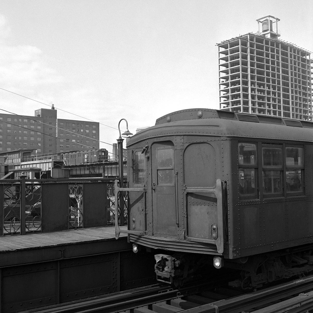 (508k, 1200x1200)<br><b>Country:</b> United States<br><b>City:</b> New York<br><b>System:</b> New York City Transit<br><b>Line:</b> BMT Canarsie Line<br><b>Location:</b> Livonia Avenue<br><b>Car:</b> BMT A/B-Type Standard  <br><b>Collection of:</b> David Pirmann<br><b>Date:</b> 3/22/1969<br><b>Viewed (this week/total):</b> 0 / 322