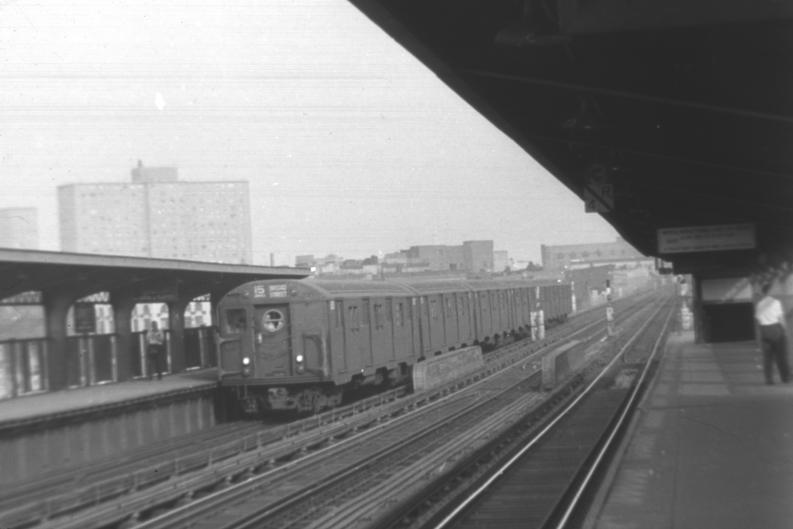 (315k, 1600x1067)<br><b>Country:</b> United States<br><b>City:</b> New York<br><b>System:</b> New York City Transit<br><b>Line:</b> BMT Nassau Street-Jamaica Line<br><b>Location:</b> Lorimer Street<br><b>Route:</b> BMT 15<br><b>Car:</b> R-16 (American Car & Foundry, 1955)  <br><b>Collection of:</b> David Pirmann<br><b>Viewed (this week/total):</b> 3 / 230