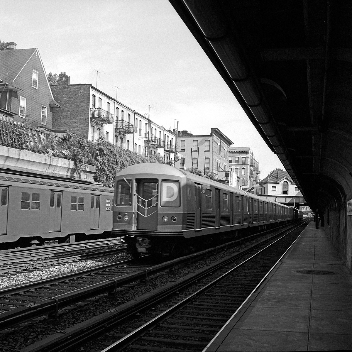 (588k, 1200x1200)<br><b>Country:</b> United States<br><b>City:</b> New York<br><b>System:</b> New York City Transit<br><b>Line:</b> BMT Brighton Line<br><b>Location:</b> Cortelyou Road<br><b>Route:</b> D<br><b>Car:</b> R-42 (St. Louis, 1969-1970)  <br><b>Collection of:</b> David Pirmann<br><b>Date:</b> 7/8/1969<br><b>Viewed (this week/total):</b> 3 / 280