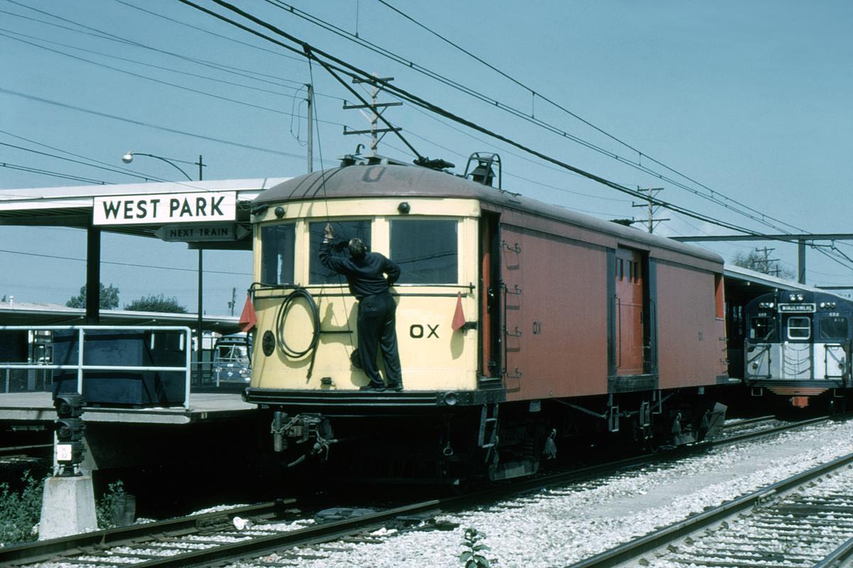 (452k, 1200x800)<br><b>Country:</b> United States<br><b>City:</b> Cleveland, OH<br><b>System:</b> GCRTA (or predecessor)<br><b>Car:</b>  OX <br><b>Photo by:</b> Gerald H. Landau<br><b>Collection of:</b> David Pirmann<br><b>Date:</b> 9/17/1961<br><b>Viewed (this week/total):</b> 0 / 115