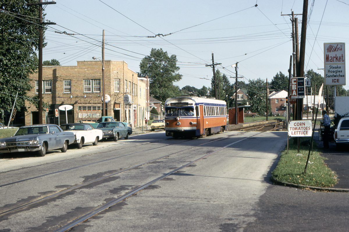 (544k, 1200x800)<br><b>Country:</b> United States<br><b>City:</b> Philadelphia, PA<br><b>System:</b> SEPTA (or Predecessor)<br><b>Line:</b> Rt. 102-Sharon Hill<br><b>Location:</b> North Street/Woodlawn Avenue<br><b>Car:</b> PSTC Streamliner (St. Louis Car Co., 1949) 22 <br><b>Collection of:</b> David Pirmann<br><b>Date:</b> 8/10/1975<br><b>Viewed (this week/total):</b> 2 / 92