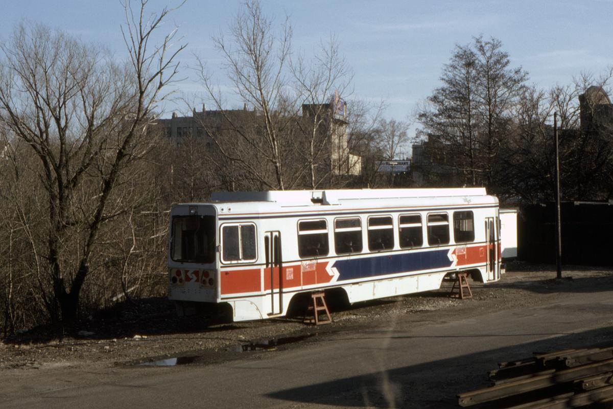 (482k, 1200x800)<br><b>Country:</b> United States<br><b>City:</b> Philadelphia, PA<br><b>System:</b> SEPTA (or Predecessor)<br><b>Line:</b> Rt. 101-Media/102-Sharon Hill<br><b>Location:</b> 69th Street<br><b>Car:</b> SEPTA K Double-ended (Kawasaki, 1981)  <br><b>Collection of:</b> David Pirmann<br><b>Date:</b> 4/1982<br><b>Viewed (this week/total):</b> 2 / 119