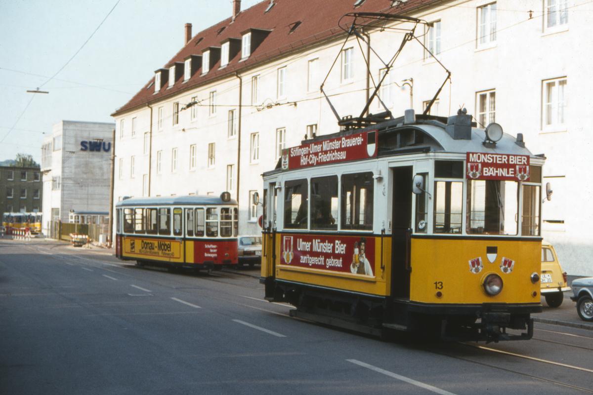 (398k, 1200x800)<br><b>Country:</b> Germany<br><b>City:</b> Ulm<br><b>System:</b> SWU (Stadtwerke Ulm)<br><b>Car:</b>  13-23 <br><b>Photo by:</b> Barry Smith<br><b>Collection of:</b> David Pirmann<br><b>Date:</b> 5/31/1982<br><b>Viewed (this week/total):</b> 1 / 115