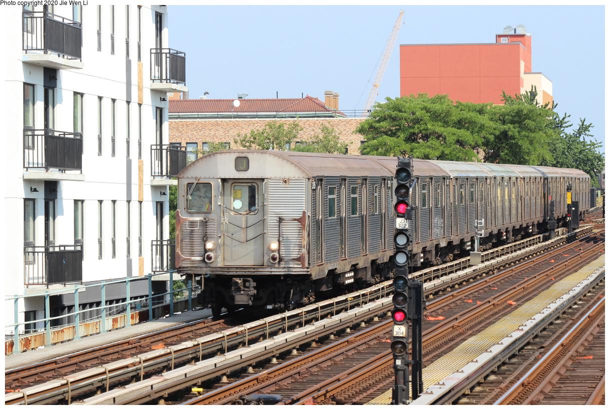 (521k, 1220x820)<br><b>Country:</b> United States<br><b>City:</b> New York<br><b>System:</b> New York City Transit<br><b>Line:</b> BMT Nassau Street-Jamaica Line<br><b>Location:</b> Chauncey Street<br><b>Route:</b> J<br><b>Car:</b> R-32 (Budd, 1964) 3715 <br><b>Photo by:</b> Jie Wen Li<br><b>Date:</b> 7/22/2020<br><b>Viewed (this week/total):</b> 2 / 337