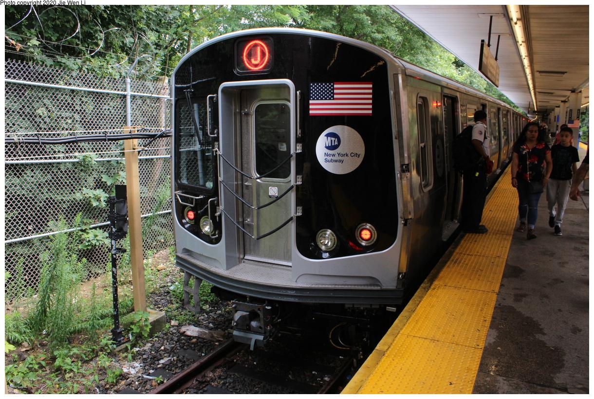 (605k, 1220x820)<br><b>Country:</b> United States<br><b>City:</b> New York<br><b>System:</b> New York City Transit<br><b>Line:</b> BMT Myrtle Avenue Line<br><b>Location:</b> Metropolitan Avenue<br><b>Route:</b> J<br><b>Car:</b> R-179 (Bombardier, 2016-2019) 3102 <br><b>Photo by:</b> Jie Wen Li<br><b>Date:</b> 7/22/2018<br><b>Notes:</b> J to Metropolitan Ave. G.O.<br><b>Viewed (this week/total):</b> 6 / 209