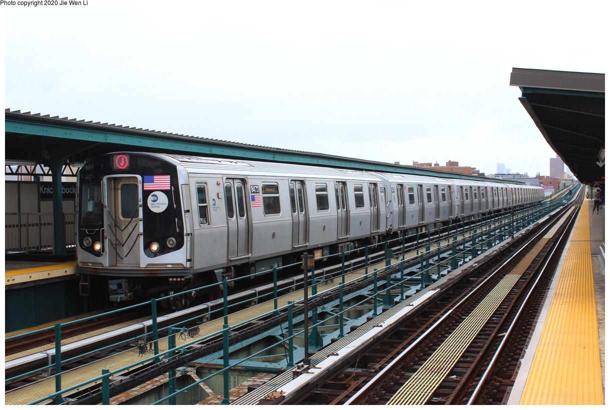 (438k, 1220x820)<br><b>Country:</b> United States<br><b>City:</b> New York<br><b>System:</b> New York City Transit<br><b>Line:</b> BMT Myrtle Avenue Line<br><b>Location:</b> Knickerbocker Avenue<br><b>Route:</b> J<br><b>Car:</b> R-160A-1 (Alstom, 2005-2008, 4 car sets) 8473 <br><b>Photo by:</b> Jie Wen Li<br><b>Date:</b> 7/22/2018<br><b>Notes:</b> J to Metropolitan Ave. G.O.<br><b>Viewed (this week/total):</b> 2 / 157