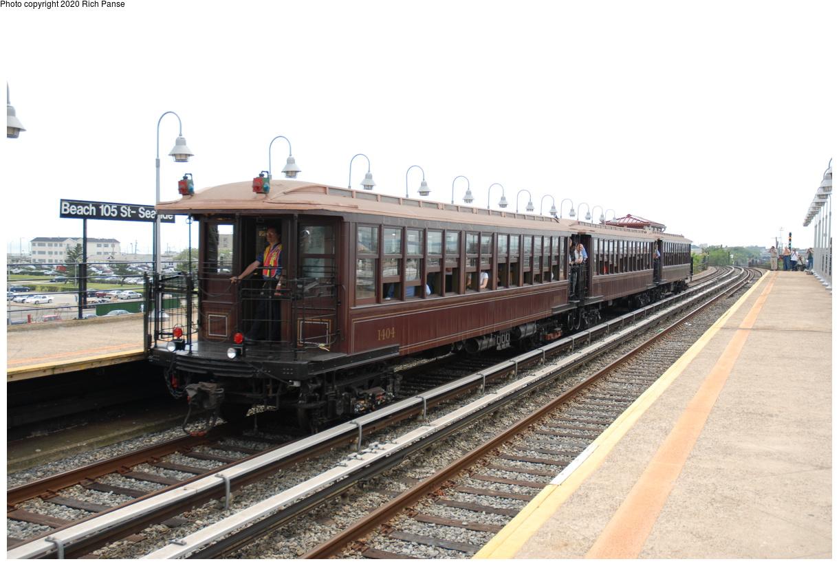 (374k, 1220x823)<br><b>Country:</b> United States<br><b>City:</b> New York<br><b>System:</b> New York City Transit<br><b>Line:</b> IND Rockaway Line<br><b>Location:</b> Beach 105th Street/Seaside<br><b>Route:</b> Museum Train Service<br><b>Car:</b> BMT Elevated Gate Car 1404-1273-1407 <br><b>Photo by:</b> Richard Panse<br><b>Date:</b> 6/17/2006<br><b>Viewed (this week/total):</b> 3 / 213