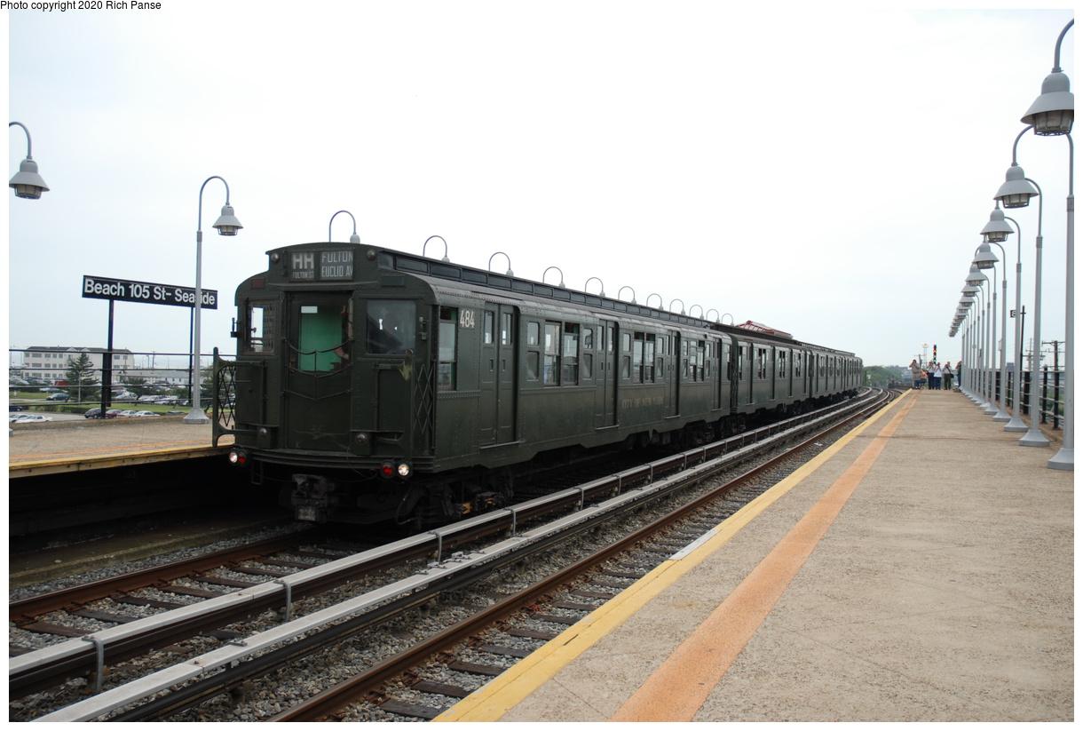 (342k, 1220x823)<br><b>Country:</b> United States<br><b>City:</b> New York<br><b>System:</b> New York City Transit<br><b>Line:</b> IND Rockaway Line<br><b>Location:</b> Beach 105th Street/Seaside<br><b>Route:</b> Museum Train Service<br><b>Car:</b> R-4 (American Car & Foundry, 1932-1933) 484 <br><b>Photo by:</b> Richard Panse<br><b>Date:</b> 6/17/2006<br><b>Viewed (this week/total):</b> 0 / 154