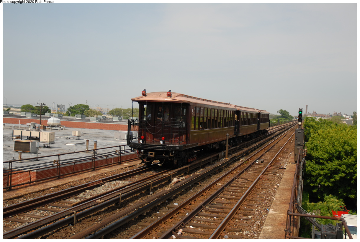 (413k, 1220x823)<br><b>Country:</b> United States<br><b>City:</b> New York<br><b>System:</b> New York City Transit<br><b>Line:</b> IND Rockaway Line<br><b>Location:</b> Beach 98th Street/Playland<br><b>Route:</b> Museum Train Service<br><b>Car:</b> BMT Elevated Gate Car 1407-1273-1404 <br><b>Photo by:</b> Richard Panse<br><b>Date:</b> 6/17/2006<br><b>Viewed (this week/total):</b> 1 / 354