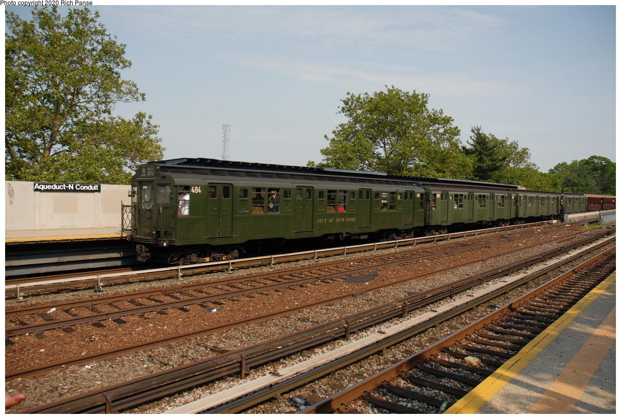 (532k, 1220x823)<br><b>Country:</b> United States<br><b>City:</b> New York<br><b>System:</b> New York City Transit<br><b>Line:</b> IND Rockaway Line<br><b>Location:</b> Aqueduct/North Conduit Avenue<br><b>Route:</b> Museum Train Service<br><b>Car:</b> R-4 (American Car & Foundry, 1932-1933) 484 <br><b>Photo by:</b> Richard Panse<br><b>Date:</b> 6/17/2006<br><b>Viewed (this week/total):</b> 1 / 189