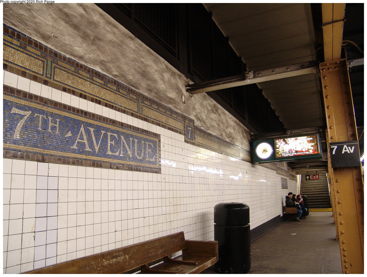 (516k, 1220x920)<br><b>Country:</b> United States<br><b>City:</b> New York<br><b>System:</b> New York City Transit<br><b>Line:</b> BMT Brighton Line<br><b>Location:</b> 7th Avenue<br><b>Photo by:</b> Richard Panse<br><b>Date:</b> 12/30/2005<br><b>Viewed (this week/total):</b> 3 / 153