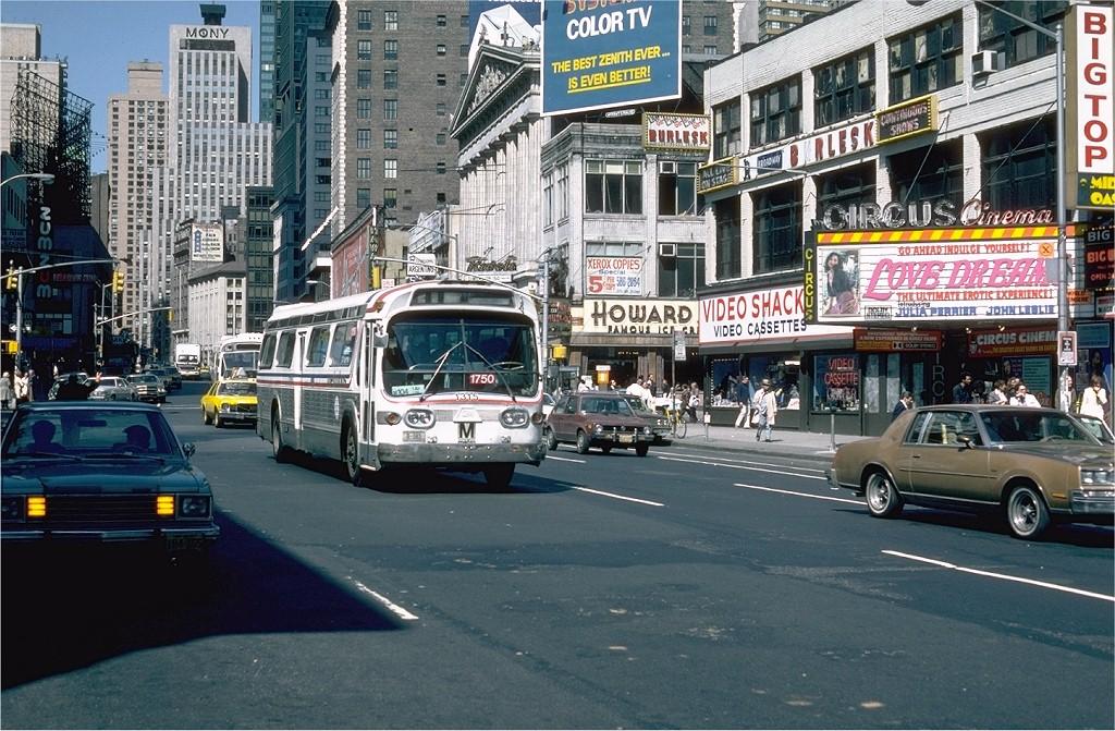 (260k, 1024x671)<br><b>Country:</b> United States<br><b>City:</b> New York<br><b>System:</b> MABSTOA<br><b>Location:</b> Broadway & 49 St<br><b>Route:</b> M104<br><b>Car:</b>  1315 <br><b>Photo by:</b> Steve Zabel<br><b>Collection of:</b> Joe Testagrose<br><b>Date:</b> 5/7/1981<br><b>Notes:</b> WMATA 1315 AS MABSTOA 1750<br><b>Viewed (this week/total):</b> 5 / 2590