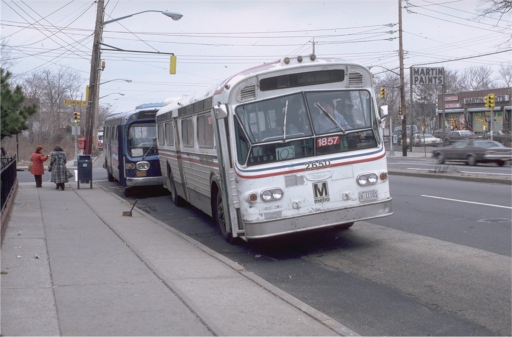 (226k, 1024x674)<br><b>Country:</b> United States<br><b>City:</b> New York<br><b>System:</b> New York City Transit<br><b>Location:</b> Hylan & Richmond<br><b>Car:</b>  2650 <br><b>Photo by:</b> Doug Grotjahn<br><b>Collection of:</b> Joe Testagrose<br><b>Date:</b> 3/21/1981<br><b>Notes:</b> WMATA 2650 AS TA 1857<br><b>Viewed (this week/total):</b> 1 / 2122