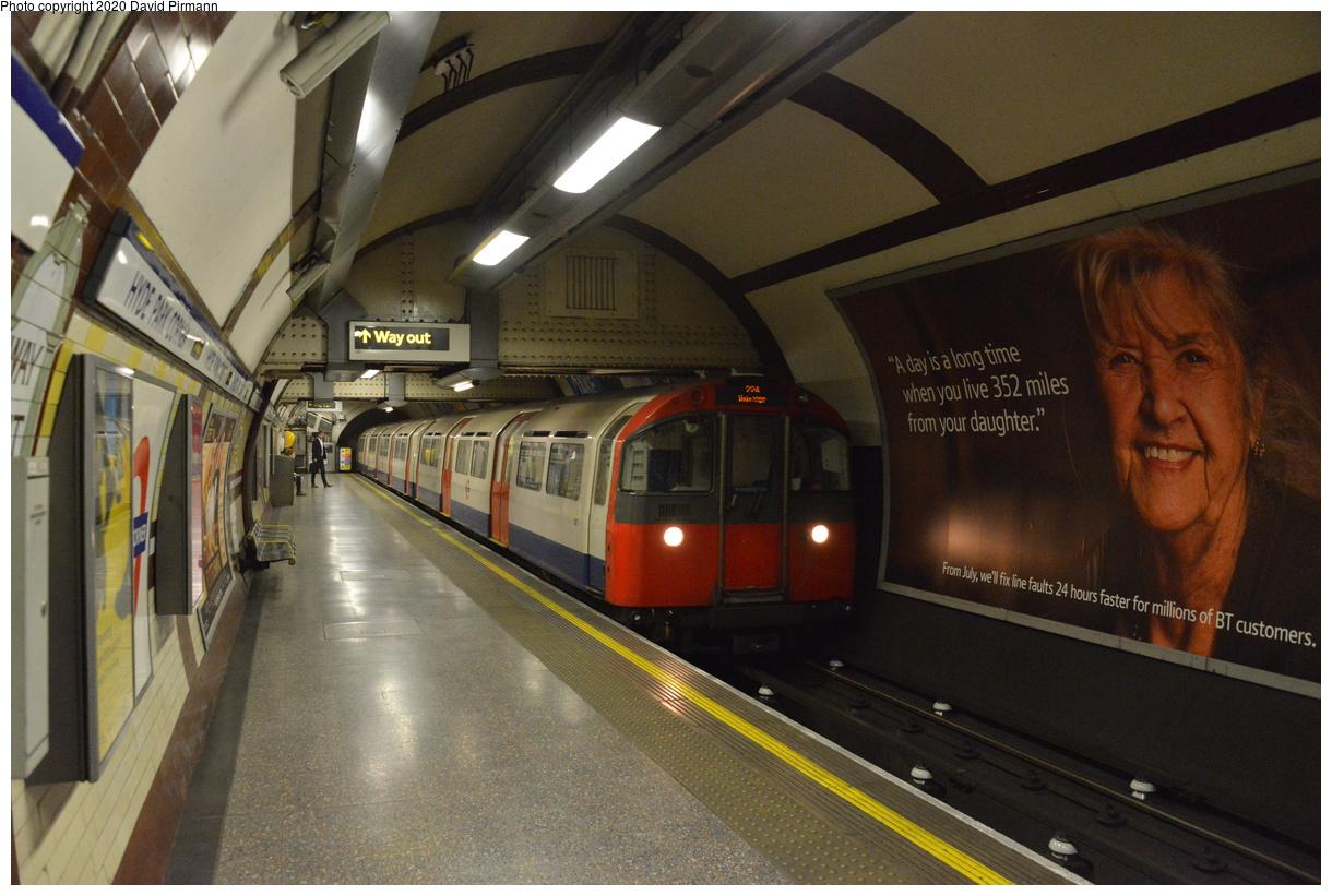 (401k, 1220x821)<br><b>Country:</b> United Kingdom<br><b>City:</b> London<br><b>System:</b> London Underground<br><b>Line:</b> Piccadilly<br><b>Location:</b> Hyde Park Corner<br><b>Car:</b> 1973 Tube Stock  <br><b>Photo by:</b> David Pirmann<br><b>Date:</b> 5/5/2016<br><b>Viewed (this week/total):</b> 0 / 59