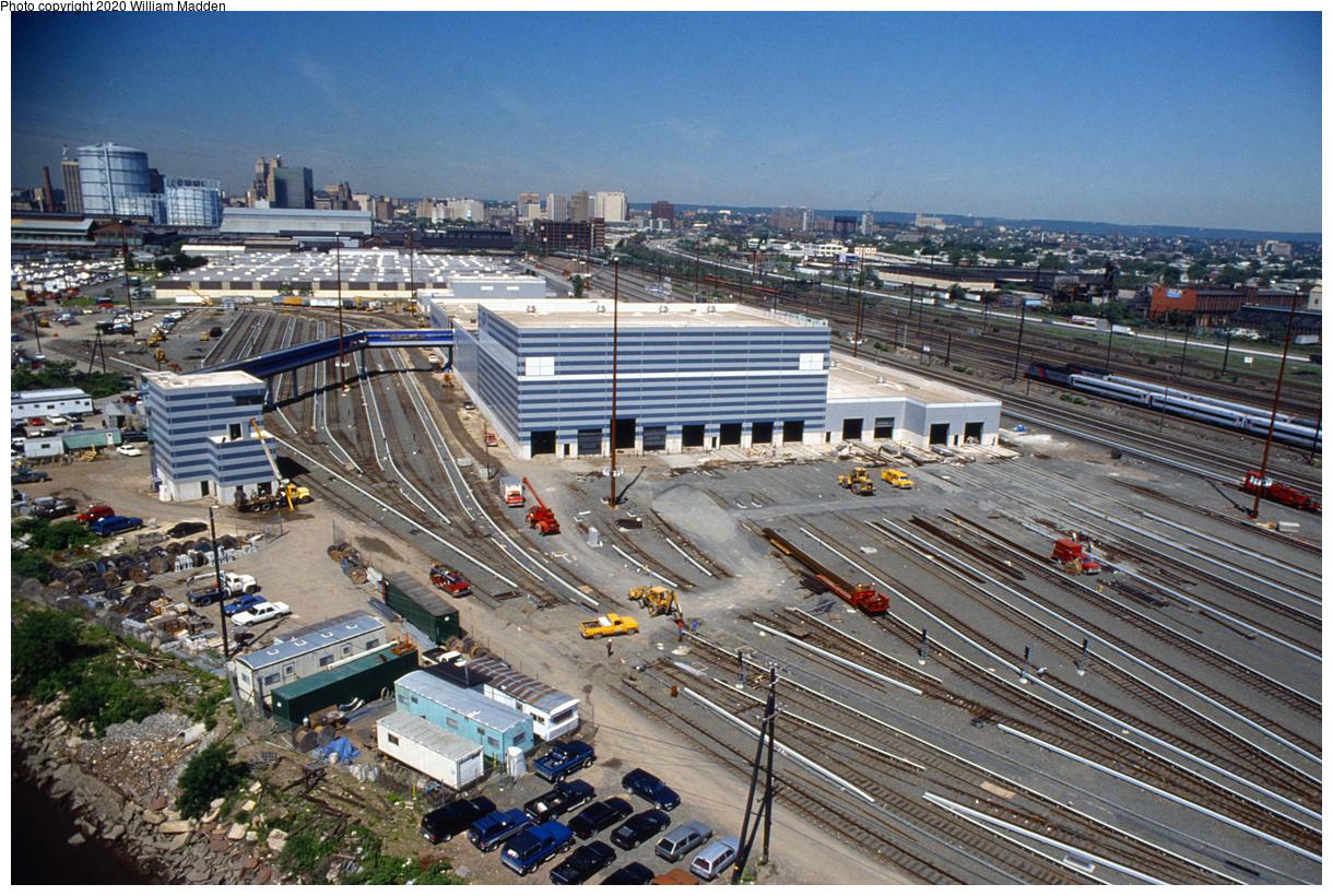 (768k, 1220x820)<br><b>Country:</b> United States<br><b>City:</b> Harrison, NJ<br><b>System:</b> PATH<br><b>Location:</b> Harrison Yard/Shop<br><b>Photo by:</b> William J. Madden<br><b>Collection of:</b> David Pirmann<br><b>Notes:</b> Harrison Yard construction.<br><b>Viewed (this week/total):</b> 1 / 149