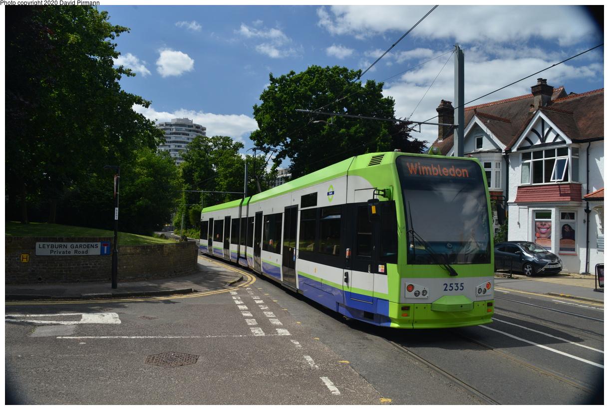 (449k, 1220x821)<br><b>Country:</b> United Kingdom<br><b>City:</b> London<br><b>System:</b> London Tramlink<br><b>Location:</b> Lebanon Road<br><b>Car:</b>  2535 <br><b>Photo by:</b> David Pirmann<br><b>Date:</b> 7/1/2019<br><b>Viewed (this week/total):</b> 1 / 92