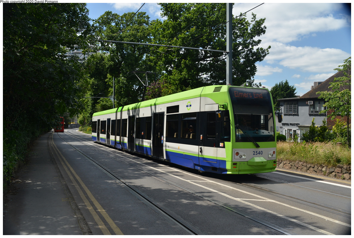 (509k, 1220x821)<br><b>Country:</b> United Kingdom<br><b>City:</b> London<br><b>System:</b> London Tramlink<br><b>Location:</b> Lebanon Road<br><b>Car:</b>  2540 <br><b>Photo by:</b> David Pirmann<br><b>Date:</b> 7/1/2019<br><b>Viewed (this week/total):</b> 1 / 85