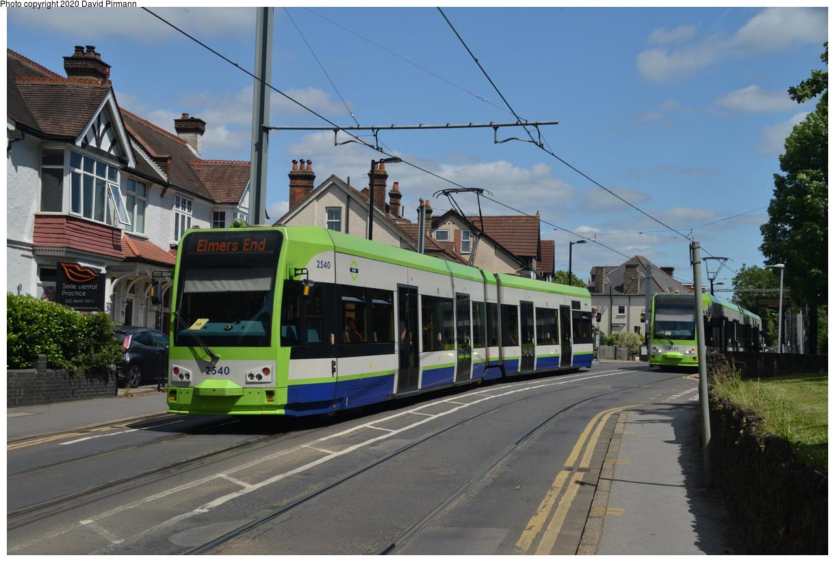 (407k, 1220x821)<br><b>Country:</b> United Kingdom<br><b>City:</b> London<br><b>System:</b> London Tramlink<br><b>Location:</b> Lebanon Road<br><b>Car:</b>  2540 <br><b>Photo by:</b> David Pirmann<br><b>Date:</b> 7/1/2019<br><b>Viewed (this week/total):</b> 1 / 117