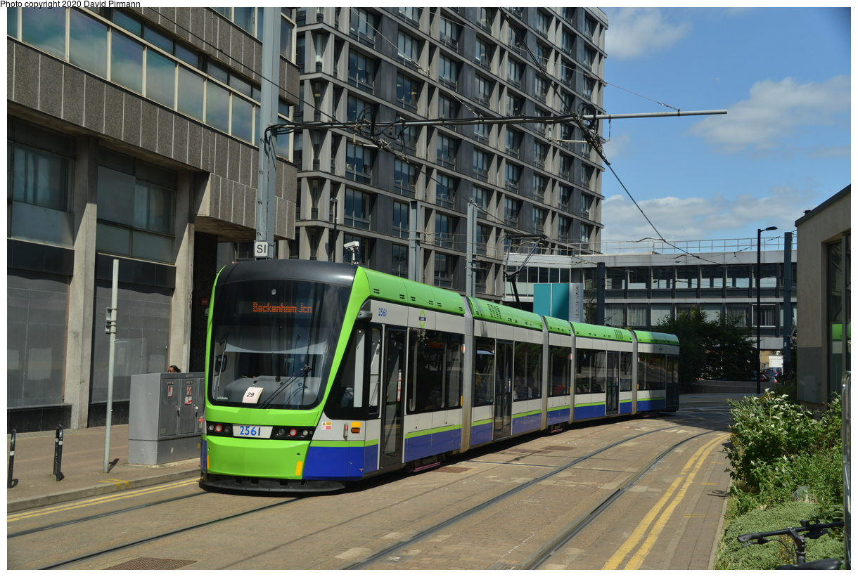 (443k, 1220x821)<br><b>Country:</b> United Kingdom<br><b>City:</b> London<br><b>System:</b> London Tramlink<br><b>Location:</b> East Croydon<br><b>Car:</b>  2561 <br><b>Photo by:</b> David Pirmann<br><b>Date:</b> 7/1/2019<br><b>Viewed (this week/total):</b> 1 / 106