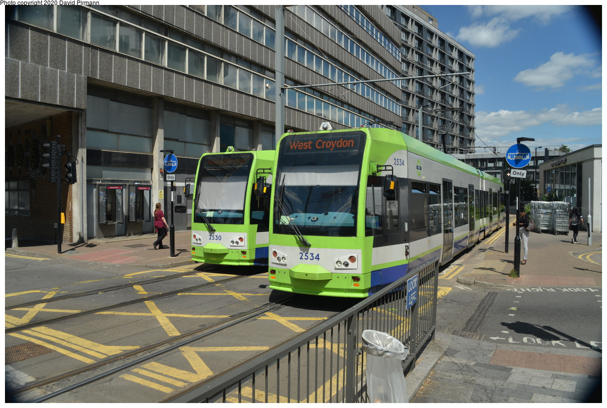 (467k, 1220x821)<br><b>Country:</b> United Kingdom<br><b>City:</b> London<br><b>System:</b> London Tramlink<br><b>Location:</b> East Croydon<br><b>Car:</b>  2530/2534 <br><b>Photo by:</b> David Pirmann<br><b>Date:</b> 7/1/2019<br><b>Viewed (this week/total):</b> 1 / 136