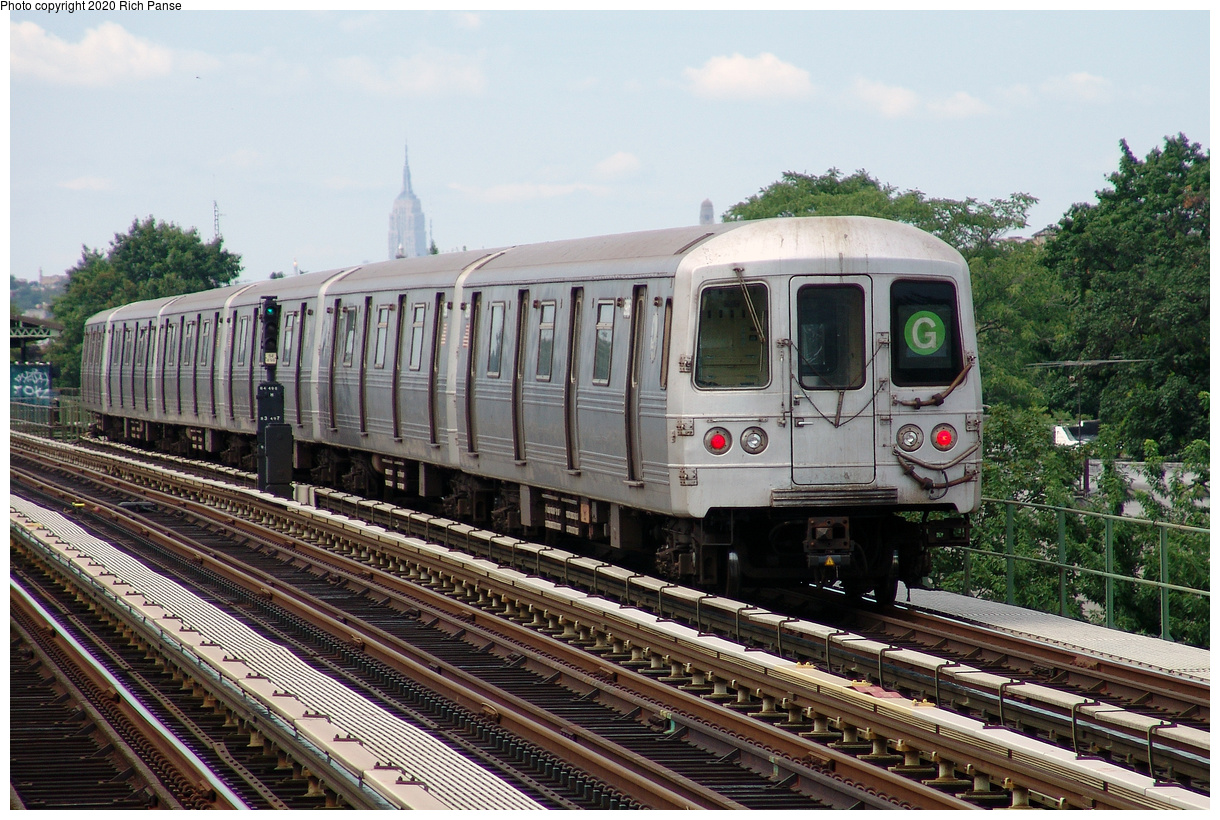 (549k, 1220x820)<br><b>Country:</b> United States<br><b>City:</b> New York<br><b>System:</b> New York City Transit<br><b>Line:</b> BMT Culver Line<br><b>Location:</b> Avenue I<br><b>Route:</b> G<br><b>Car:</b> R-46 (Pullman-Standard, 1974-75)  <br><b>Photo by:</b> Richard Panse<br><b>Date:</b> 7/25/2004<br><b>Viewed (this week/total):</b> 3 / 211