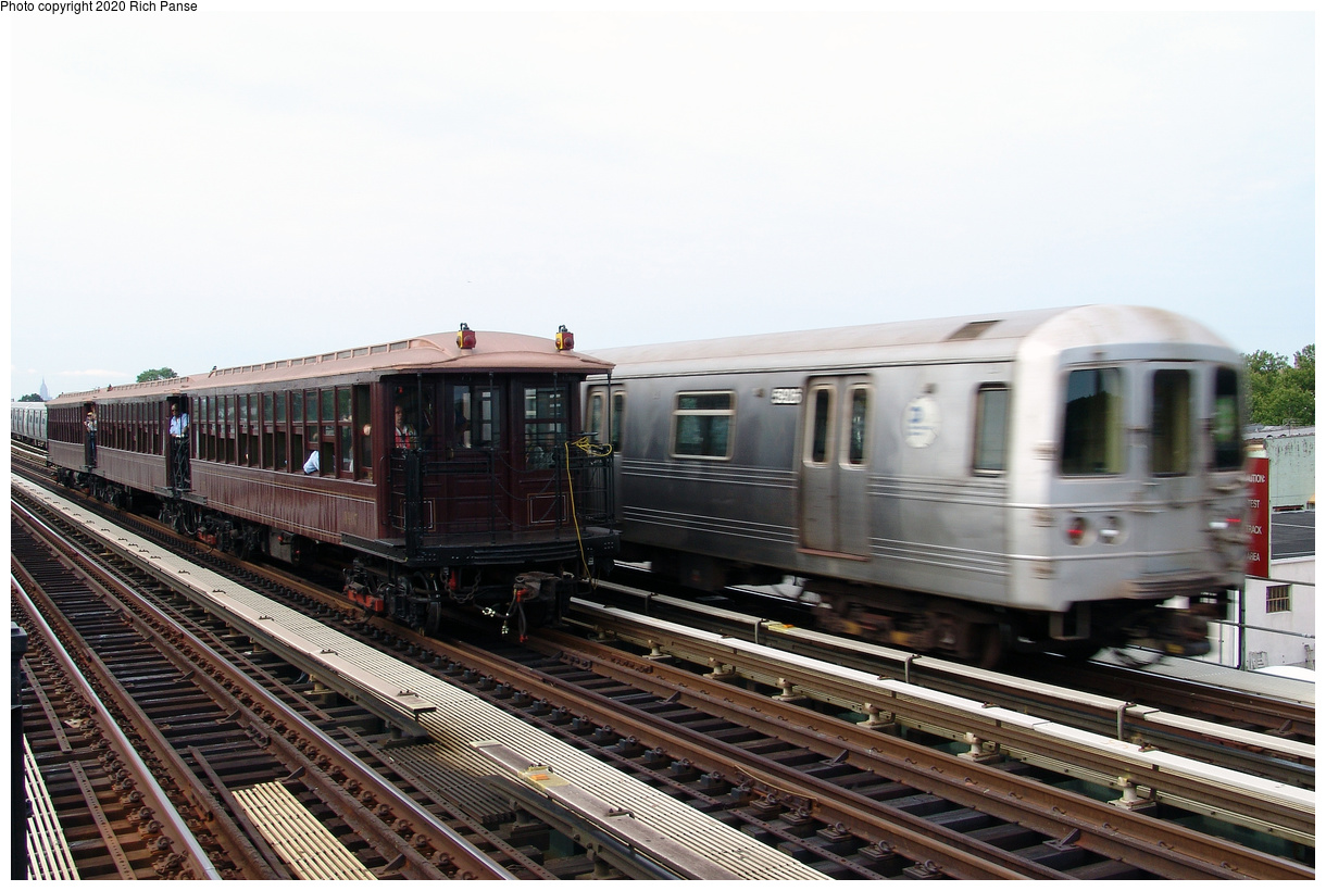 (410k, 1220x820)<br><b>Country:</b> United States<br><b>City:</b> New York<br><b>System:</b> New York City Transit<br><b>Line:</b> BMT Culver Line<br><b>Location:</b> Avenue I<br><b>Route:</b> Museum Train Service<br><b>Car:</b> BMT Elevated Gate Car 1407 <br><b>Photo by:</b> Richard Panse<br><b>Date:</b> 7/25/2004<br><b>Viewed (this week/total):</b> 2 / 156
