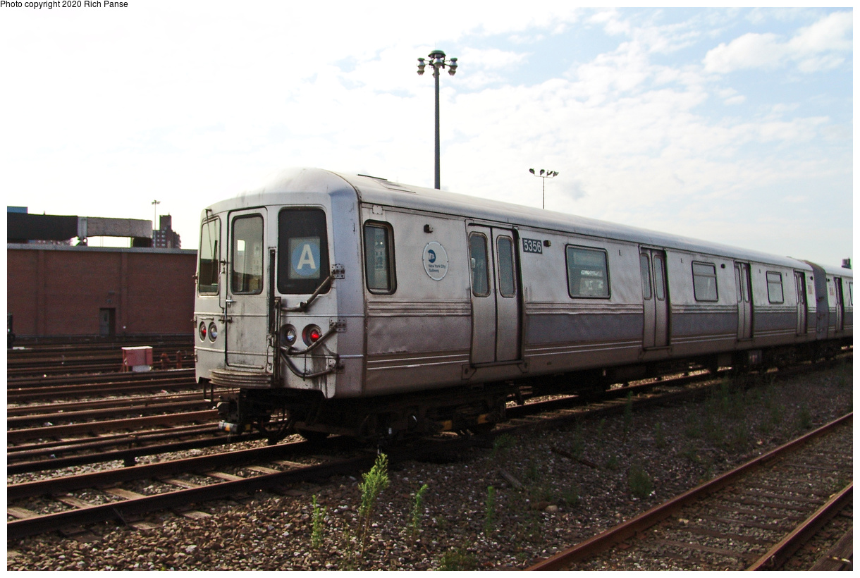 (413k, 1220x820)<br><b>Country:</b> United States<br><b>City:</b> New York<br><b>System:</b> New York City Transit<br><b>Location:</b> Coney Island Yard<br><b>Car:</b> R-44 (St. Louis, 1971-73) 5356 <br><b>Photo by:</b> Richard Panse<br><b>Date:</b> 7/25/2004<br><b>Viewed (this week/total):</b> 1 / 204