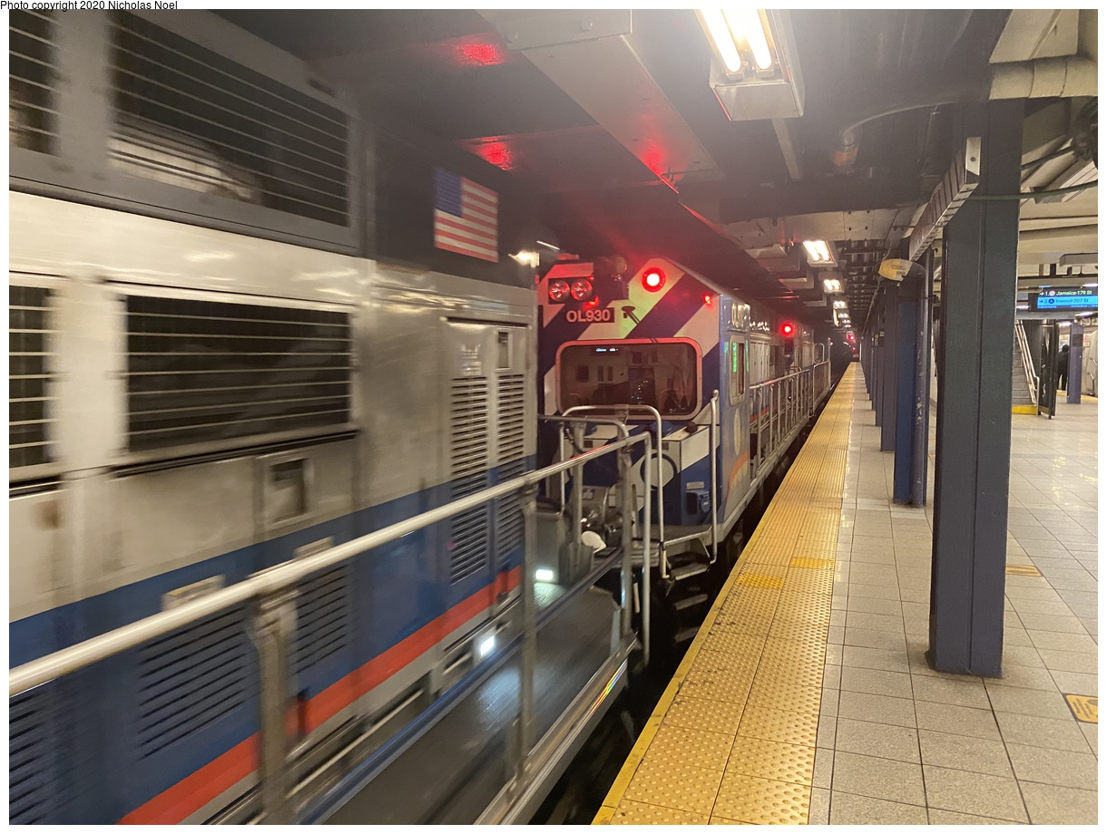 (400k, 1220x920)<br><b>Country:</b> United States<br><b>City:</b> New York<br><b>System:</b> New York City Transit<br><b>Line:</b> IND 8th Avenue Line<br><b>Location:</b> Chambers Street/World Trade Center<br><b>Route:</b> Work Service<br><b>Car:</b> R-156 Diesel-Electric Locomotive (MPI, 2012-2013) 930 <br><b>Photo by:</b> Nicholas Noel<br><b>Date:</b> 9/15/2020<br><b>Viewed (this week/total):</b> 3 / 177