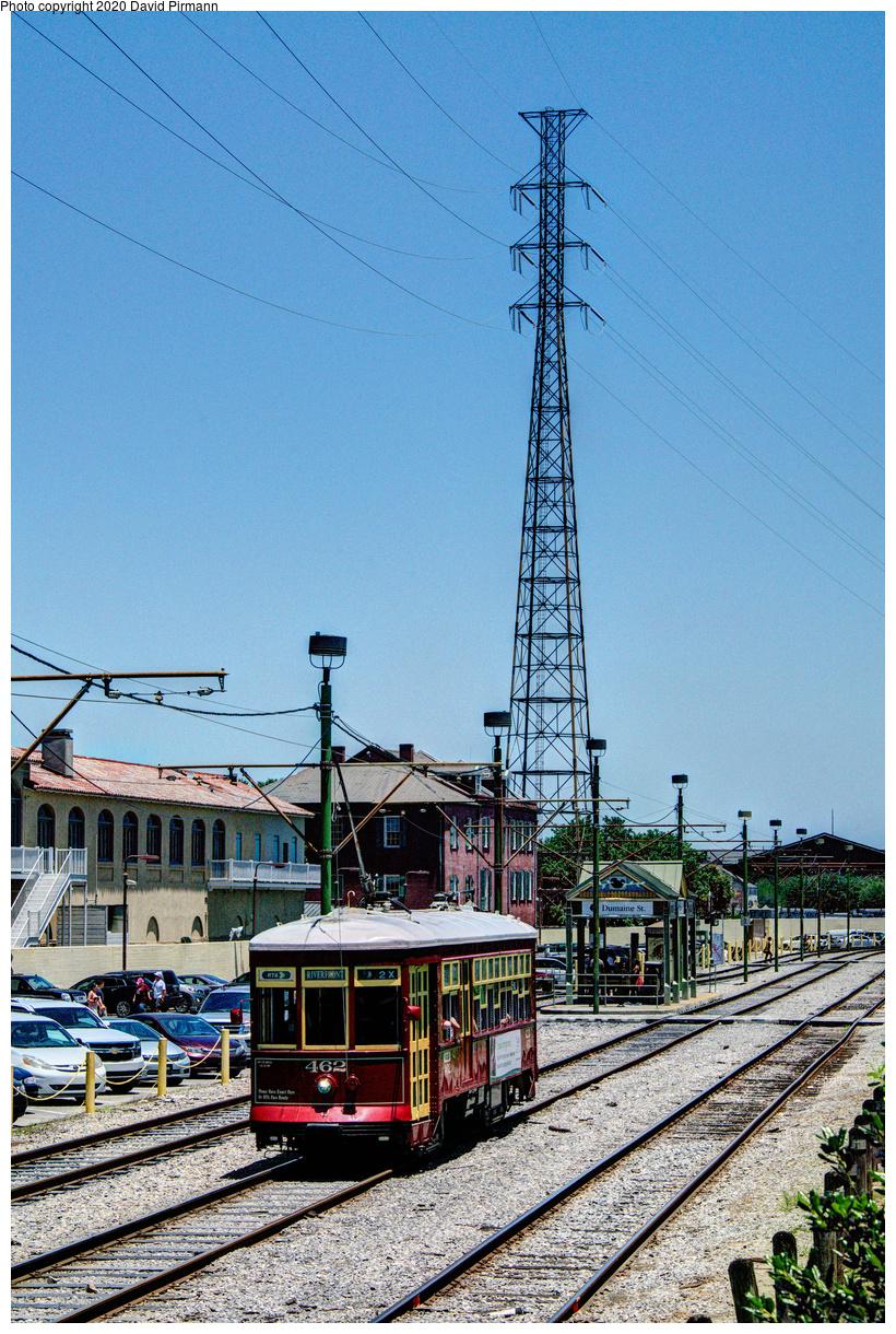 (834k, 820x1220)<br><b>Country:</b> United States<br><b>City:</b> New Orleans, LA<br><b>System:</b> New Orleans RTA<br><b>Line:</b> Riverfront<br><b>Location:</b> Riverfront/Jackson Square<br><b>Car:</b> New Orleans Public Service (Perley A. Thomas Car Works, 1924) 462 <br><b>Photo by:</b> David Pirmann<br><b>Date:</b> 5/25/2019<br><b>Viewed (this week/total):</b> 0 / 134