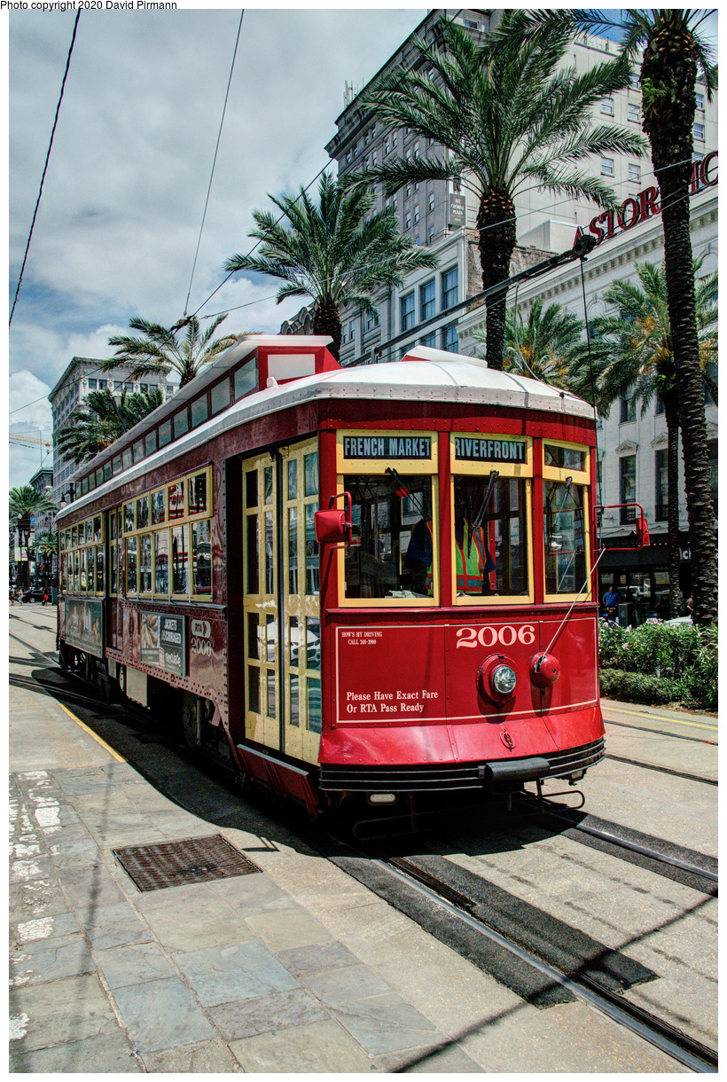 (862k, 820x1220)<br><b>Country:</b> United States<br><b>City:</b> New Orleans, LA<br><b>System:</b> New Orleans RTA<br><b>Line:</b> Canal Street<br><b>Location:</b> Canal/St. Charles/Royal<br><b>Car:</b> Perley Thomas Replica 2006 <br><b>Photo by:</b> David Pirmann<br><b>Date:</b> 5/27/2019<br><b>Viewed (this week/total):</b> 1 / 130