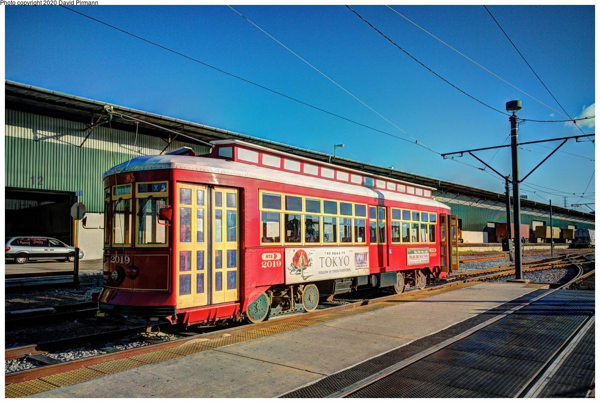 (500k, 1220x820)<br><b>Country:</b> United States<br><b>City:</b> New Orleans, LA<br><b>System:</b> New Orleans RTA<br><b>Line:</b> Riverfront<br><b>Location:</b> Riverfront/Esplanade - French Market<br><b>Car:</b> Perley Thomas Replica 2019 <br><b>Photo by:</b> David Pirmann<br><b>Date:</b> 5/24/2019<br><b>Viewed (this week/total):</b> 0 / 148