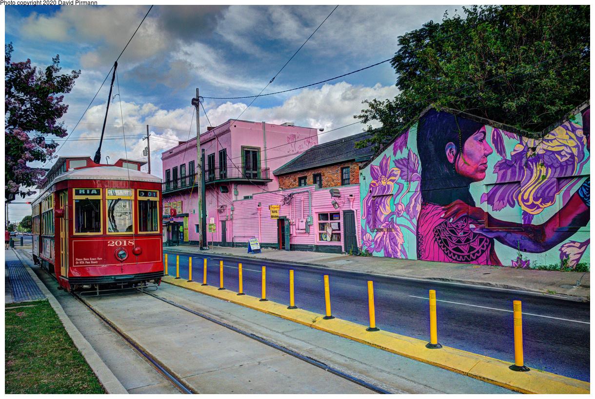 (850k, 1220x820)<br><b>Country:</b> United States<br><b>City:</b> New Orleans, LA<br><b>System:</b> New Orleans RTA<br><b>Line:</b> Rampart-St. Claude<br><b>Location:</b> Elysian Fields Avenue<br><b>Car:</b> Perley Thomas Replica 2018 <br><b>Photo by:</b> David Pirmann<br><b>Date:</b> 5/27/2019<br><b>Viewed (this week/total):</b> 1 / 201