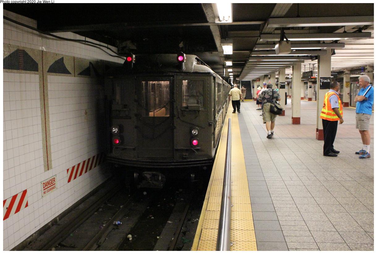 (440k, 1220x820)<br><b>Country:</b> United States<br><b>City:</b> New York<br><b>System:</b> New York City Transit<br><b>Line:</b> IRT Times Square-Grand Central Shuttle<br><b>Location:</b> Grand Central<br><b>Route:</b> Museum Train Service<br><b>Car:</b> Low-V (Museum Train) 5443 <br><b>Photo by:</b> Jie Wen Li<br><b>Date:</b> 8/7/2015<br><b>Viewed (this week/total):</b> 0 / 195