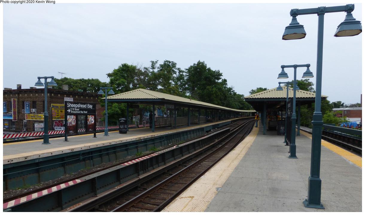 (366k, 1220x720)<br><b>Country:</b> United States<br><b>City:</b> New York<br><b>System:</b> New York City Transit<br><b>Line:</b> BMT Brighton Line<br><b>Location:</b> Sheepshead Bay<br><b>Photo by:</b> Kevin Wong<br><b>Date:</b> 6/27/2015<br><b>Viewed (this week/total):</b> 2 / 392