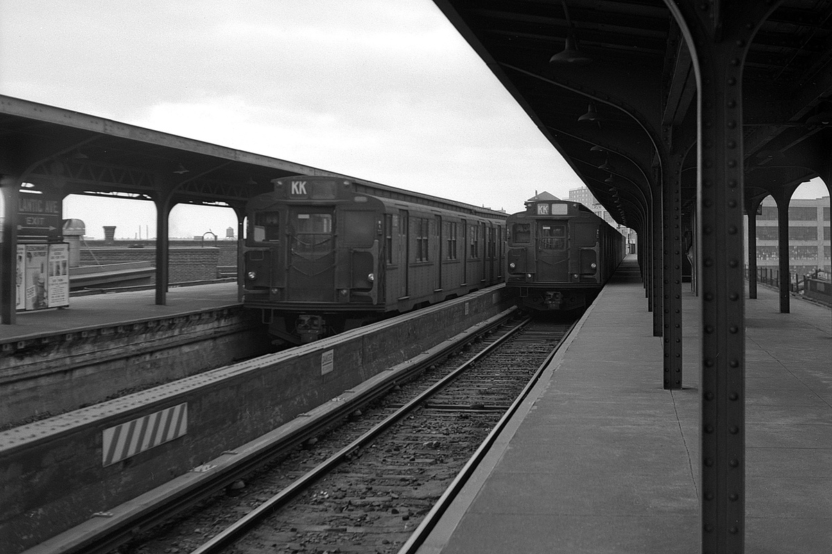 (352k, 1200x800)<br><b>Country:</b> United States<br><b>City:</b> New York<br><b>System:</b> New York City Transit<br><b>Line:</b> BMT Canarsie Line<br><b>Location:</b> Atlantic Avenue<br><b>Car:</b> R-1/R-9 Series  <br><b>Collection of:</b> David Pirmann<br><b>Date:</b> 3/22/1969<br><b>Viewed (this week/total):</b> 0 / 345