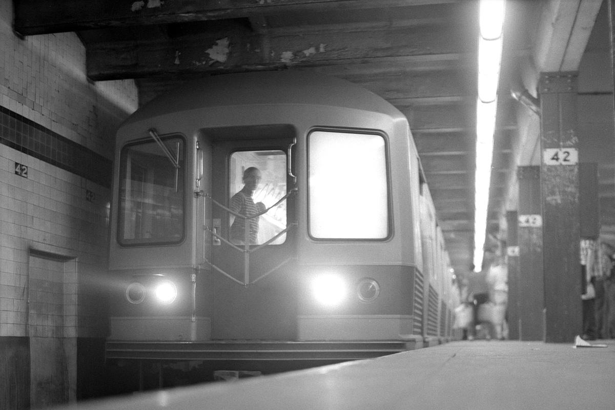 (310k, 1200x800)<br><b>Country:</b> United States<br><b>City:</b> New York<br><b>System:</b> New York City Transit<br><b>Line:</b> IND 8th Avenue Line<br><b>Location:</b> 42nd Street/Port Authority Bus Terminal<br><b>Route:</b> AA<br><b>Car:</b> R-42 (St. Louis, 1969-1970)  <br><b>Collection of:</b> David Pirmann<br><b>Date:</b> 8/23/1969<br><b>Viewed (this week/total):</b> 5 / 394