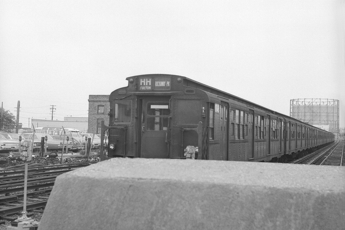 (352k, 1200x800)<br><b>Country:</b> United States<br><b>City:</b> New York<br><b>System:</b> New York City Transit<br><b>Location:</b> Rockaway Park Yard<br><b>Route:</b> Layup<br><b>Car:</b> R-6-3 (American Car & Foundry, 1935) 1048 <br><b>Collection of:</b> David Pirmann<br><b>Date:</b> 7/5/1970<br><b>Viewed (this week/total):</b> 2 / 441
