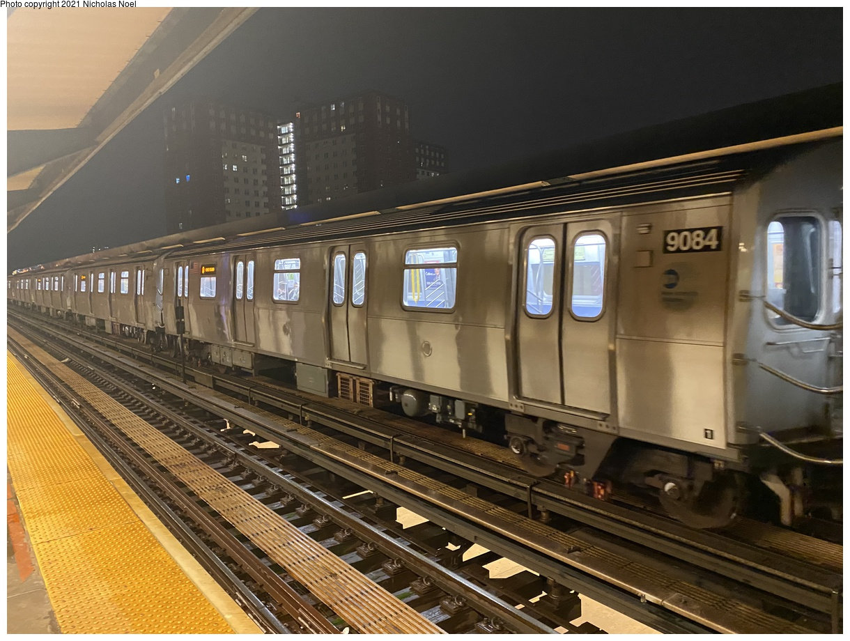(408k, 1220x920)<br><b>Country:</b> United States<br><b>City:</b> New York<br><b>System:</b> New York City Transit<br><b>Line:</b> BMT Brighton Line<br><b>Location:</b> West 8th Street<br><b>Route:</b> Q<br><b>Car:</b> R-160B (Option 1) (Kawasaki, 2008-2009) 9094 <br><b>Photo by:</b> Nicholas Noel<br><b>Date:</b> 12/5/2020<br><b>Viewed (this week/total):</b> 3 / 426