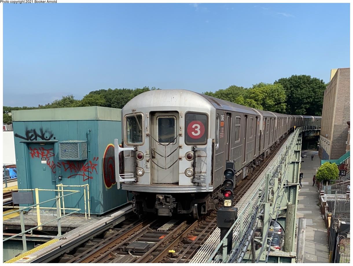 (382k, 1220x920)<br><b>Country:</b> United States<br><b>City:</b> New York<br><b>System:</b> New York City Transit<br><b>Line:</b> IRT Brooklyn Line<br><b>Location:</b> Sutter Avenue/Rutland Road<br><b>Route:</b> 3<br><b>Car:</b> R-62 (Kawasaki, 1983-1985) 1345 <br><b>Photo by:</b> Booker Arnold<br><b>Date:</b> 6/19/2020<br><b>Viewed (this week/total):</b> 1 / 746